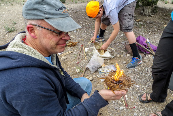 Redcliff reunion dad bowdrill fire
