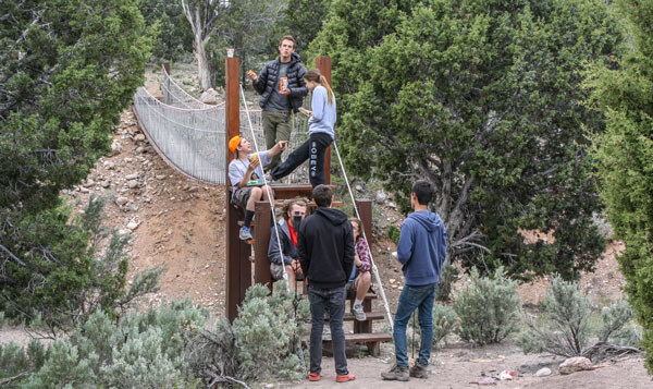 Redcliff reunion rope bridge hangout